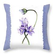Purple Flowers Serenade Botanical Impressionism Throw Pillow