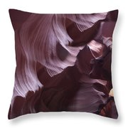 Purple Folds Throw Pillow