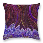 Purple Forest Moon Throw Pillow