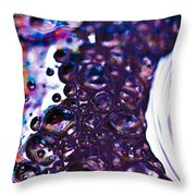 Purple Fusion Throw Pillow