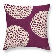 Purple Garden Bloom Throw Pillow