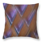 Purple Geometry - Abstract Throw Pillow