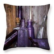 Purple Glass Throw Pillow