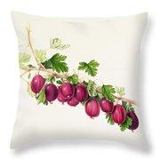 Purple Gooseberry Throw Pillow