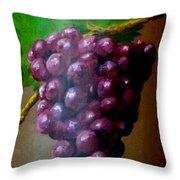 Purple Grapes On Terra Cotta Throw Pillow