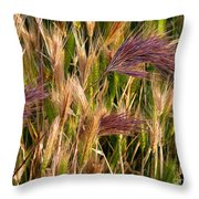 Purple Grasses Throw Pillow