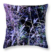 Purple Ground Cover Throw Pillow
