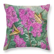 Purple Haze Cafe Throw Pillow
