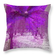 Purple Haze Throw Pillow