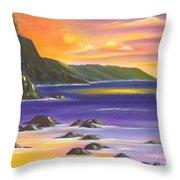 Purple Haze In Hawaii Throw Pillow