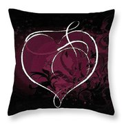 Purple Heart Of Passion Throw Pillow
