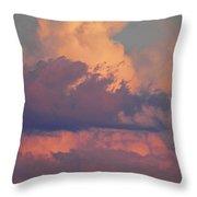 Purple Heavens Throw Pillow