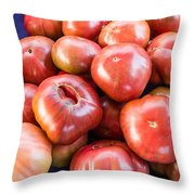 Purple Heirloom Tomatoes  Throw Pillow