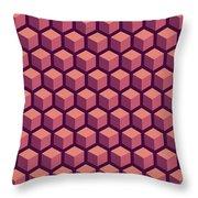 Purple Hexagonal Pattern Throw Pillow
