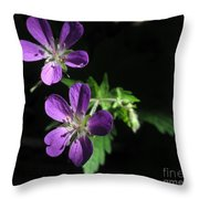 Purple Highlights Throw Pillow