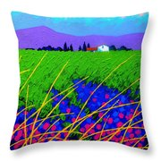 Purple Hills Throw Pillow by John  Nolan