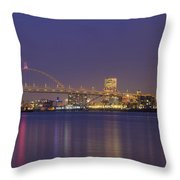 Purple Hour Throw Pillow