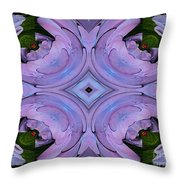 Purple Hydrangea Flower Abstract 2 Throw Pillow