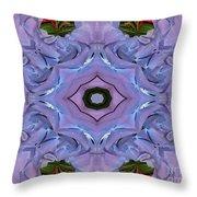 Purple Hydrangea Flower Abstract Throw Pillow