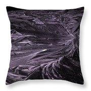 Purple Ice Throw Pillow