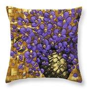Purple In The Warm Glow Throw Pillow