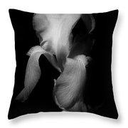 Purple Iris In Black And White Throw Pillow