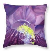 Georgia O'keeffe Style-purple Iris Throw Pillow