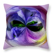 Purple Iris Orb Throw Pillow