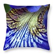 Purple Iris Petal Throw Pillow