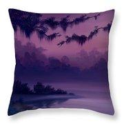Purple Jungle Throw Pillow