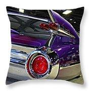 Purple Kustom Kadillac Throw Pillow