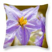 Purple Life II Throw Pillow