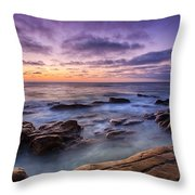 Purple Majesty No Mountain Throw Pillow