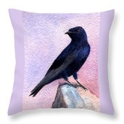 Purple Martin Throw Pillow