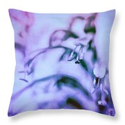 Purple Memories Of Flowers Throw Pillow