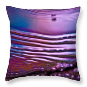 Purple Meterorite Throw Pillow