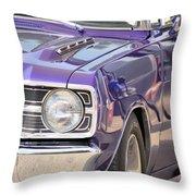 Purple Mopar Throw Pillow