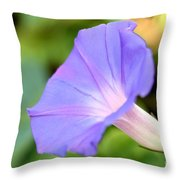 Purple Morning Glory Throw Pillow