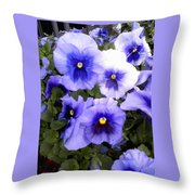Purple Morning Glory Throw Pillow