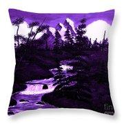 Purple Mountain Throw Pillow