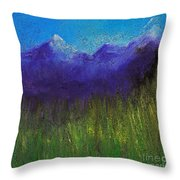 Purple Mountains By Jrr Throw Pillow