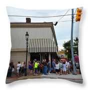 Purple Movie Comes To Clare Michigan Throw Pillow