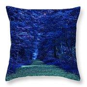 Purple Nature Throw Pillow