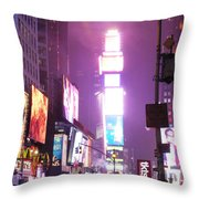 Purple Nights Throw Pillow