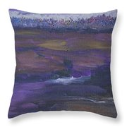 Purple Ocean Throw Pillow