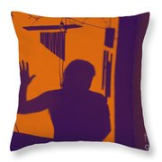 Purple Orange Figure Shadow Throw Pillow