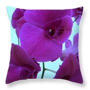 Purple Orchids 3 Throw Pillow