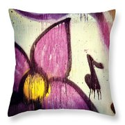 Purple Paint One Throw Pillow