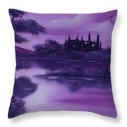 Purple Palace For Sale Throw Pillow