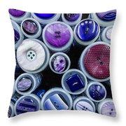 Purple Palate Throw Pillow
